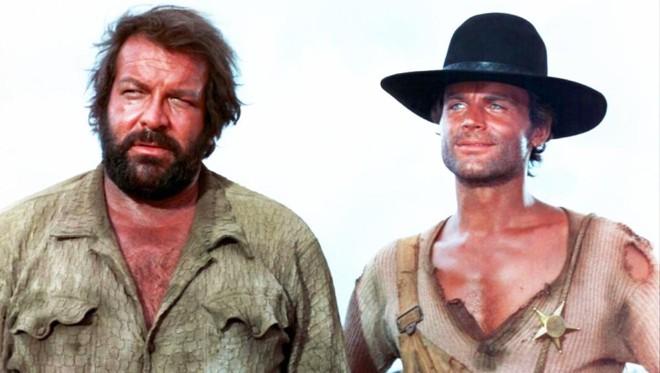 Bud Spencer (à esquerda), com seu parceiro constante,  Terence Hill   /Divulgação