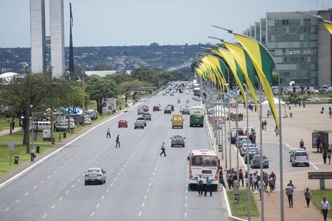 Esplanada dos Ministérios com Congresso ao fundo:corrupção domina Brasília. | Marcelo Camargo/Agência Brasil