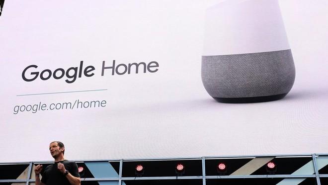 Google aposta no Google Home para se tornar o assistente pessoal.   Justin Sullivan/AFP