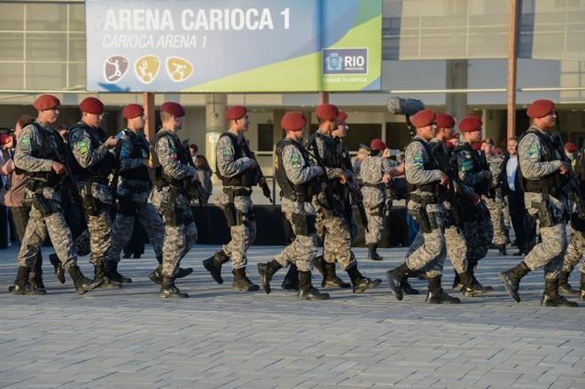 Força Nacional faz a segurança do Parque Olímpico do Rio: terrorismo preocupa as autoridades.   Fernando Frazão/Agência Brasil