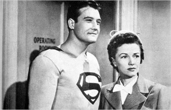 """Noel Neill e George Reeves em """"As Aventuras do Superman   Divulgação"""