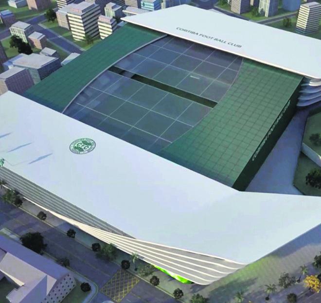 Projeto de novo estádio para o local do Couto Pereira tem teto móvel | Divulgação