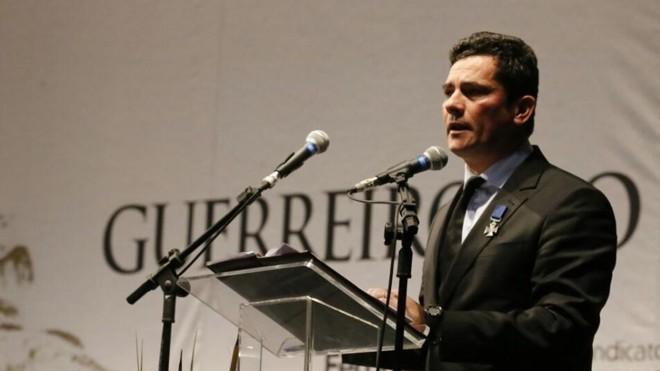 Sergio Moro falou durante evento da Fecomércio PR. | Pedro Serapio/Gazeta do Povo