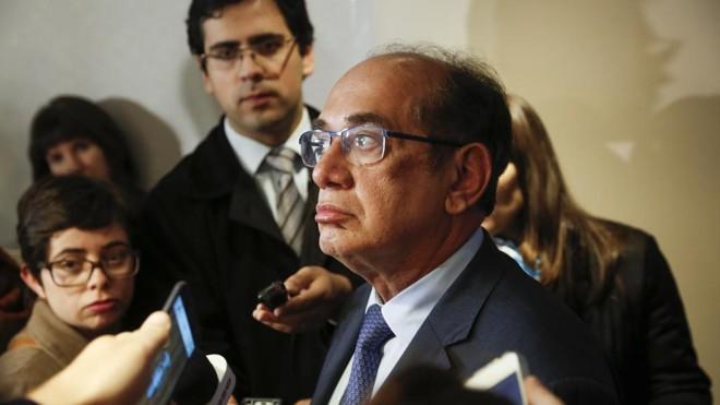 O ministro do STF Gilmar Mendes durante coletiva realizada em Curitiba | Daniel Castellano/Gazeta do Povo
