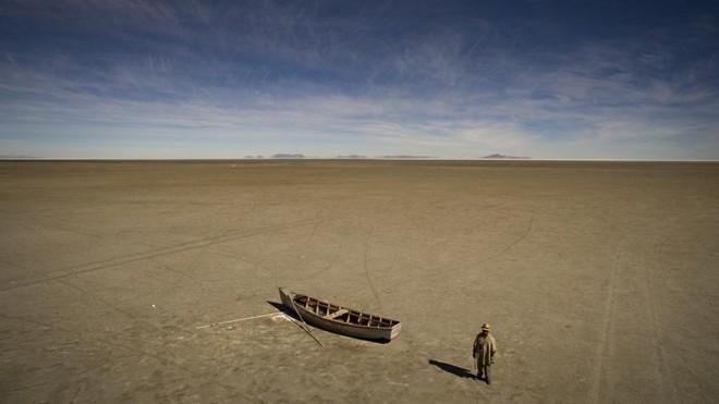 O desaparecimento do Lago Poopó ameaça a identidade do povo Uru-Murato, o grupo indígena mais antigo da região.   JOSH HANER/The New Yrok Times
