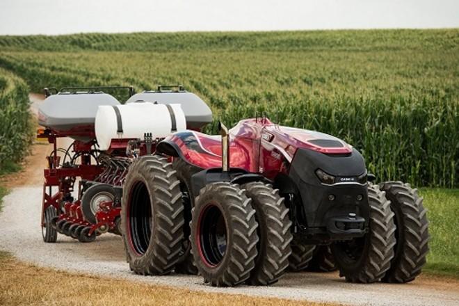 Embora o trator  conceito autônomo tenha sido desenvolvido sem cabine, as colheitadeiras e outros  equipamentos podem funcionar na mesma tecnologia | Case IH/Divulgação