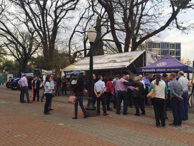 Fusca ficou exposto no Centro Regional de Eventos de Pato Branco, durante a 17ª edição do Congresso Paranaense de Engenheiros Agrônomos   Divulgação