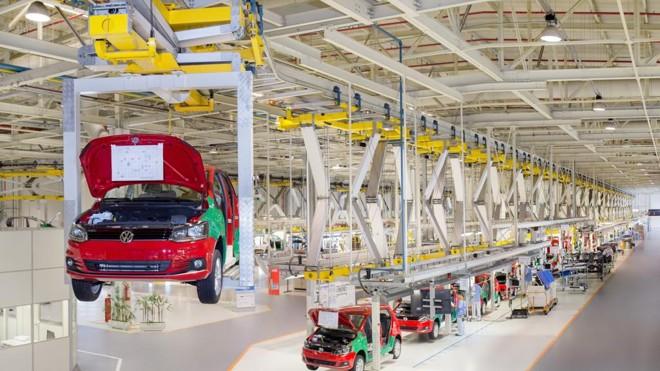 Fábrica da Volks no Paraná: falta constante de peças.   Divulgação VW