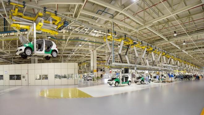 A fabricação do Fox em São José dos Pinhais está interrompida por falta de peças.   Divulgação/Volkswagen
