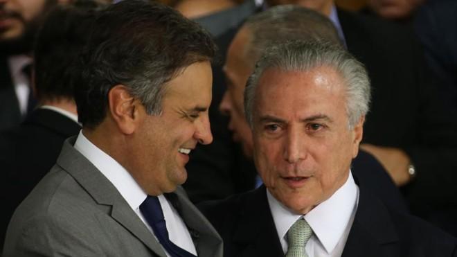 Senador Aécio Neves foi um dos principais interlocutores do PSDB junto ao presidente interino Michel Temer. | Marcello Casal Jr/Agência Brasil