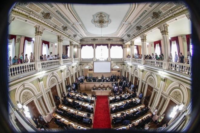 Plenário da Câmara de Vereadores de Curitiba | Daniel Castellano / Gazeta do Povo