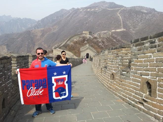 Na Muralha da China, em Pequim. |