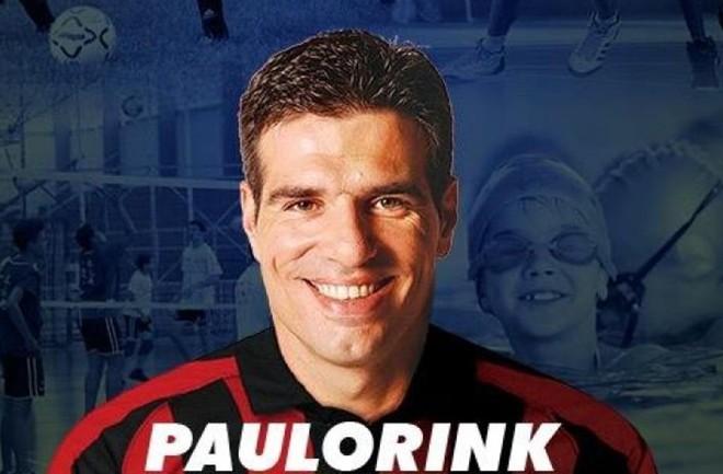 Imagem da campanha do candidato Paulo Rink com camisa alusiva ao Atlético.   Reprodução/Internet