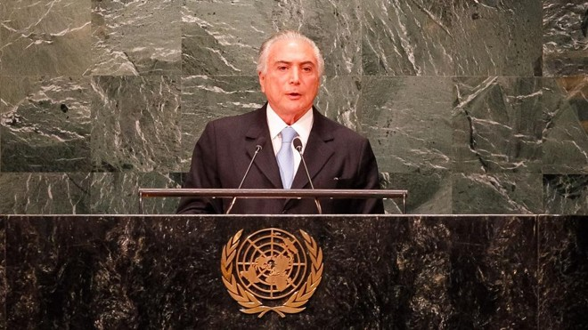 Michel Temer abriu a Assembleia Geral da ONU em Nova York. | Beto Barata/PR