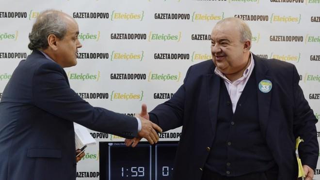 Fruet (à esq.)e Greca | Henry Milleo / Gazeta do Povo