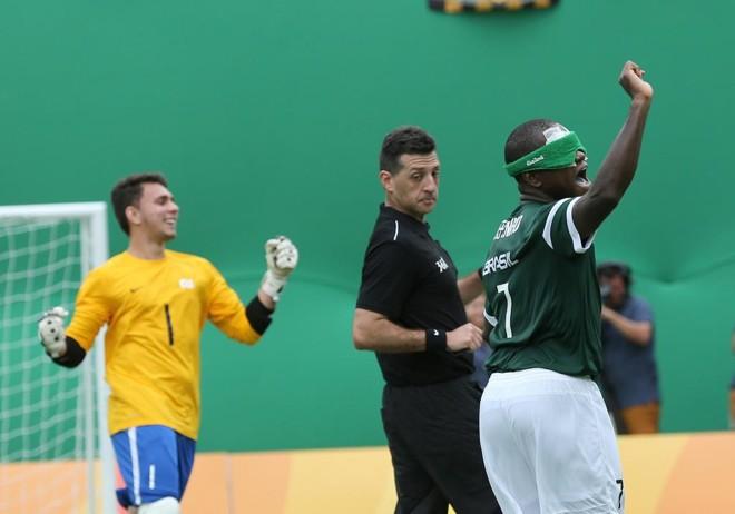 Jefinho marcou o gol da virada do Brasil sobre oMarrocos. | Alaor Filho/CPB
