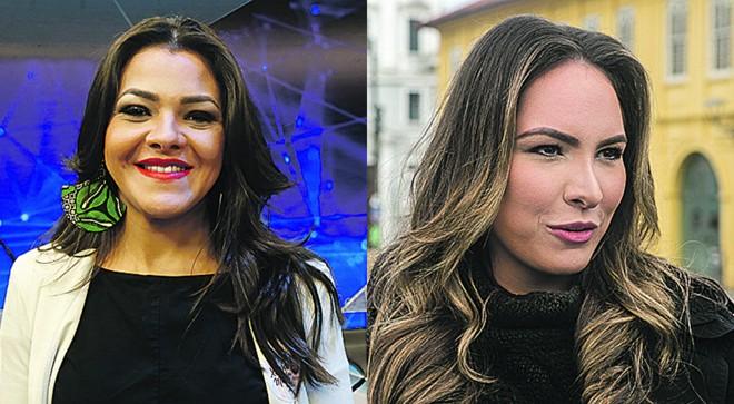 Disputa pela prefeitura de Curitiba tem duas mulheres:Xênia Mello (à esq.)e Maria Victoria | Pedro Serápio e Marcelo Andrade/Gazeta do Povo