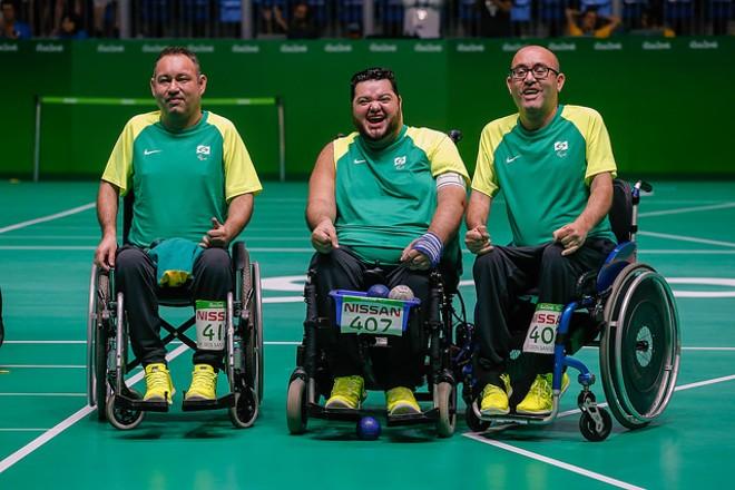 Na ordem , da esquerda para a direita, Marcelo dos Santos, Dirceu Pinto e Eliseu dos Santos. | CPB/