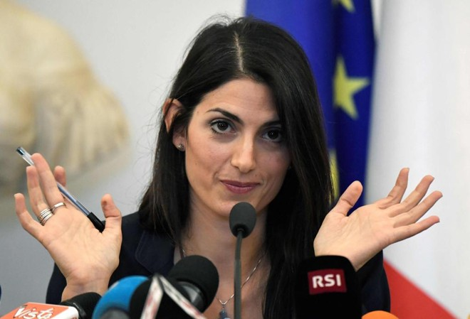 Virginia Raggi, prefeita de Roma. | TIZIANA FABI/AFP