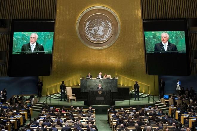 Temer discursa na Assembleia Geral da ONU | Drew Angerer/AFP