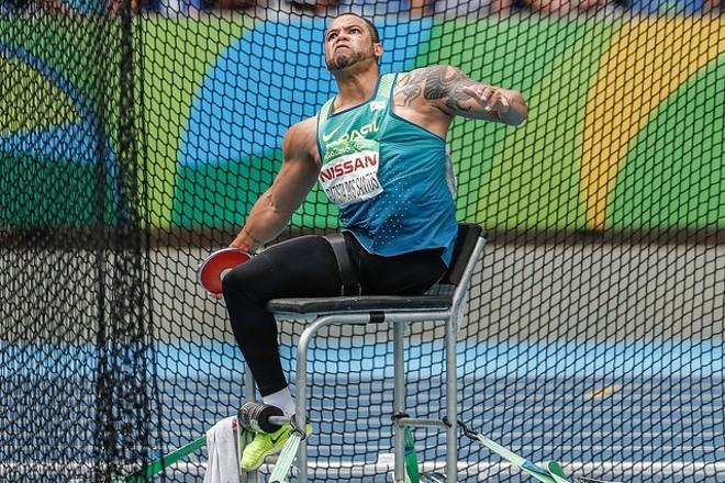 Claudiney Batista conquista a medalha dourada nesse sábado (10). | Marco Antônio Teixeira/MPIX/CPB/