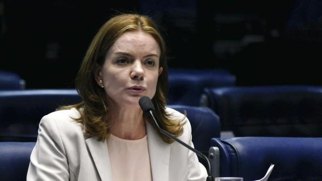 Gleisi Hoffmann recebeu a reportagem da Gazeta do Povo na última quarta-feira (27). | Roque de Sá/Agência Senado