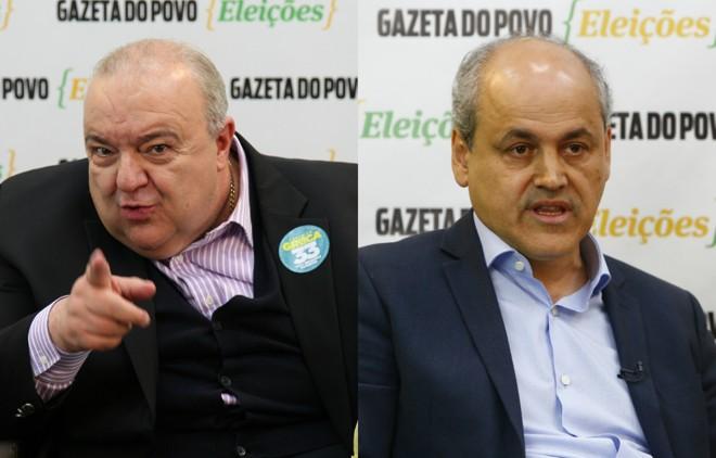 Greca (à esq.)e Fruet   Montagem - Henry Milléo/Gazeta do Povo