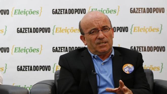 Ademar Pereira, do Pros, é candidato a prefeito de Curitiba. | Jonathan Campos/Gazeta do Povo