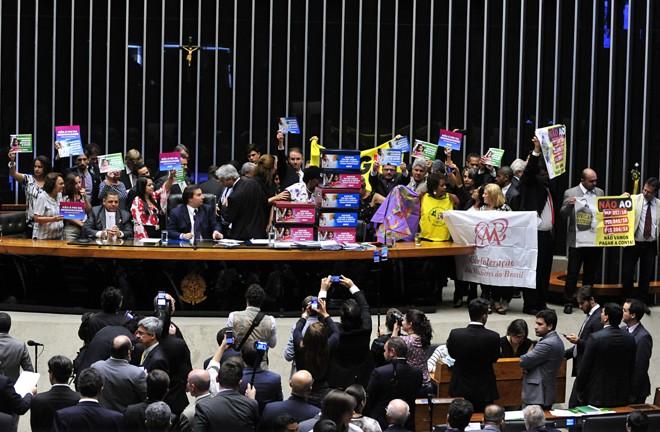 Plenário da Câmara foi alvo de protestos na votação da PEC do teto de gastos | Luis Macedo / Câmara dos Deputados