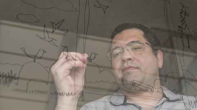 O ilustrador Rogério Coelho: três indicações ao Jabuti | Marcelo Andrade/Gazeta do Povo