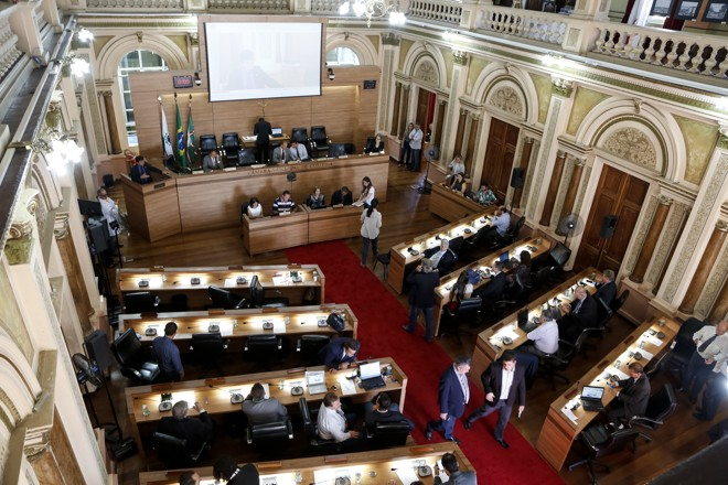 Plenário da Câmara de Vereadores da capital. | Henry Milleo/Gazeta do Povo