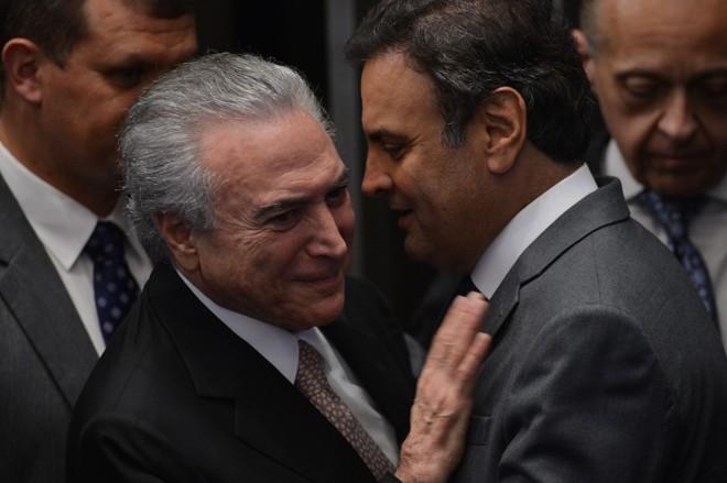 O PMDB de Michel Temer elegeu mais prefeitos e vereadores, o que lhe garante um trunfo maior que o PSDB de Aécio Neves para a eleição presidencial de 2018 | Fabio Rodrigues Pozzebom/ Agência Brasil