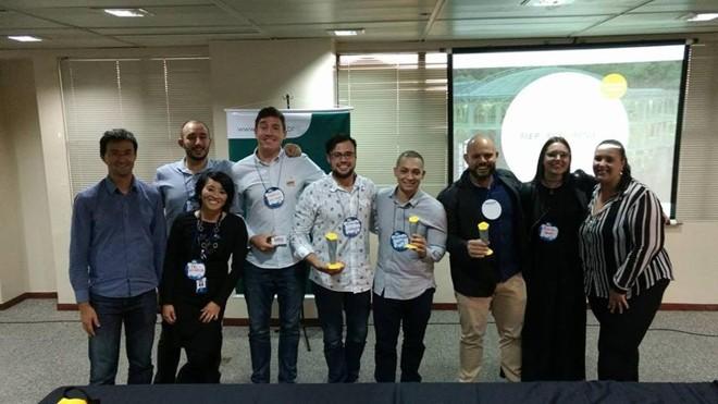 Equipe da Contraktor, equipe vencedora do Desafio Paraná de Startups | Reprodução/Facebook/