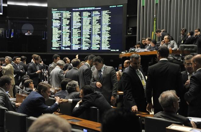 Plenário da Câmara dos Deputados no fim da noite desta terça-feira (29)   Luis Macedo / Câmara dos Deputados