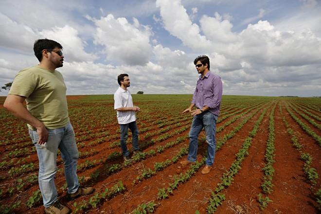 O produtor Jalél Augeri Bertoti é um dos que cultivam grãos bem pertinho da zona urbana | Felipe Rosa/TRIBUNA DO PARANA
