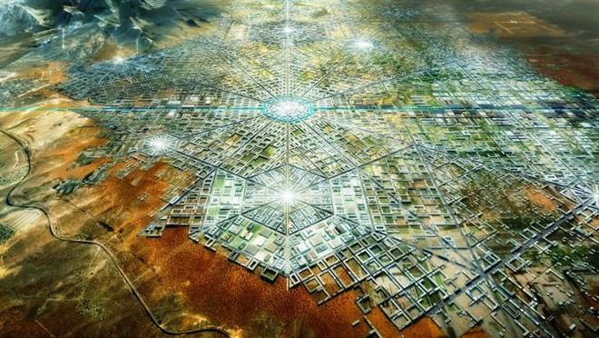 Cidade hexagonal proposta por arquiteto para integrar fronteira entre México e os EUA | Fernando Romero Enterprise/Divulgação