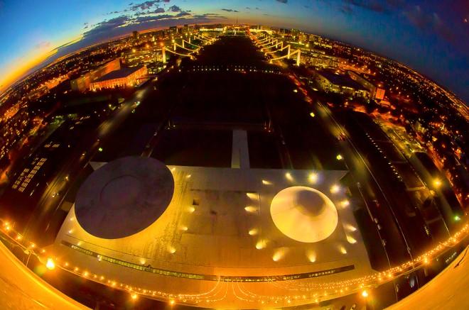 Vista aérea das Casas do Congresso Nacional | Ana Volpe/ Agência Senado/Arquivo