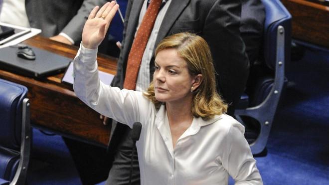 Gleisi Hoffmann. senadora peloParaná | Edilson Rodrigues/Agência Senado
