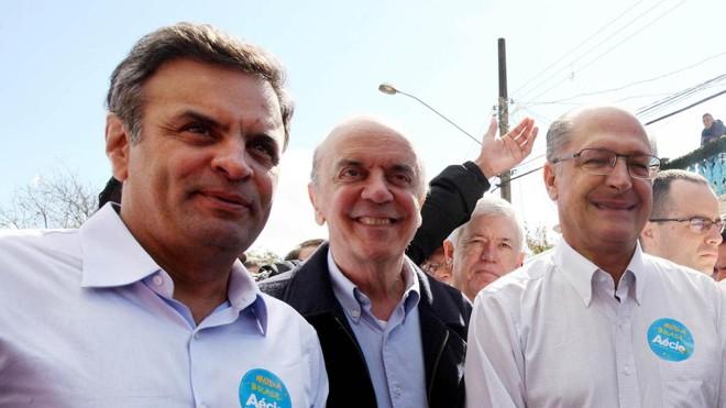 Aécio Neves, José Serra e Geraldo Alckmin são citados na Operação Lava Jato. | Marcos Fernandes/PSDB
