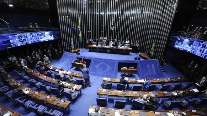 Senado aprovou em segundo turno a PEC 55. | Edilson Rodrigues/Agência Senado