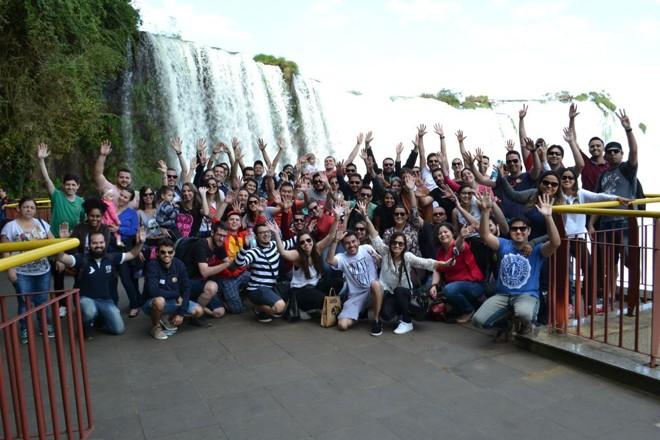 Em 2016, a Tecnospeed completou 10 anos e levou os colaboradores  para a passar um fim de semana em Foz do Iguaçu com direito a  acompanhante. | Divulgação