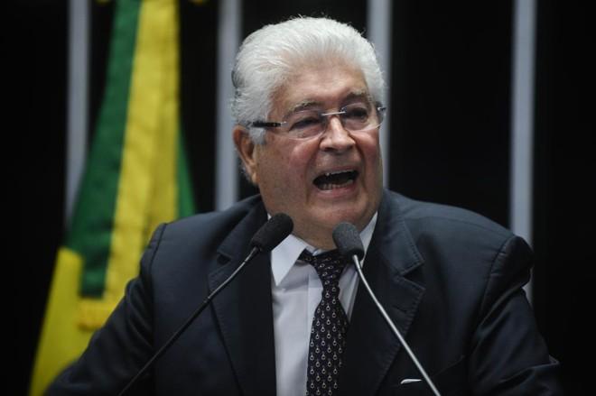 Roberto Requião (PMDB-PR), que foi apontado por Renan Calheiros (PMDB-AL)para relatar o projeto da Lei do Abuso de Autoridade | Marcos Oliveira/Agência Senado