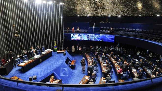 Presidente do Senado, Rena n Calheiros, conduziu a votação do pacote. | Jonas Pereira/Jonas Pereira/Agência Senado