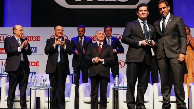 Juiz federal Sergio Moro recebeu prêmio de Brasileiro do Ano na Justiça concedido pela revista IstoÉ. | Beto Barata/Fotos Públicas