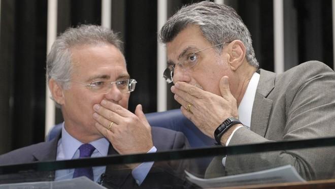 Renan Calheiros (à esq.)e Romero Jucá (PMDB-RR) | Waldemir Barreto/Agência Senado