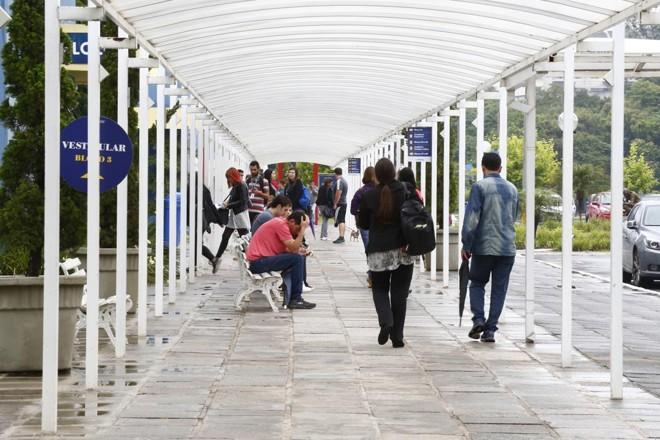 Em Curitiba, um dos locais de prova da segunda aplicação do exame foi a UniBrasil | Aniele Nascimento/Gazeta do Povo