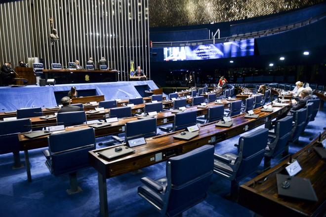 Plenário do Senado é o palco do que deve ser a primeira grande vitória do governo Temer noCongresso | Jefferson Rudy/Agência Senado