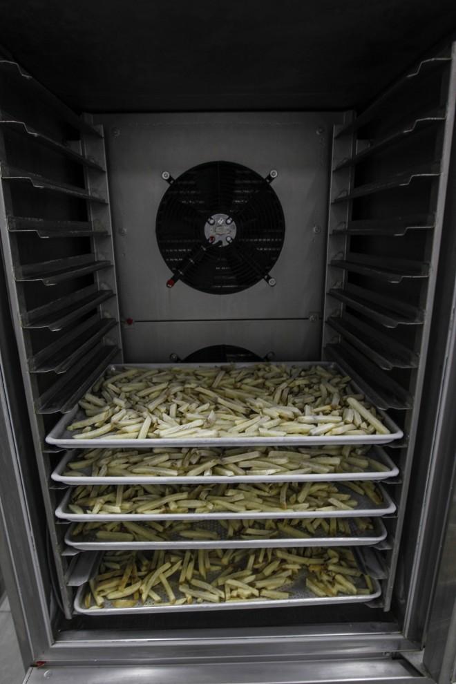 O próximo destino é o refrigerador, a 30 graus negativos.   Jonathan Campos/Gazeta do Povo