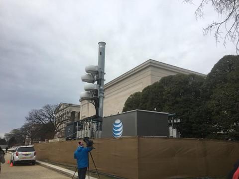 Torre de celular montada no National Mall para a posse de Donald Trump | The Washington Post