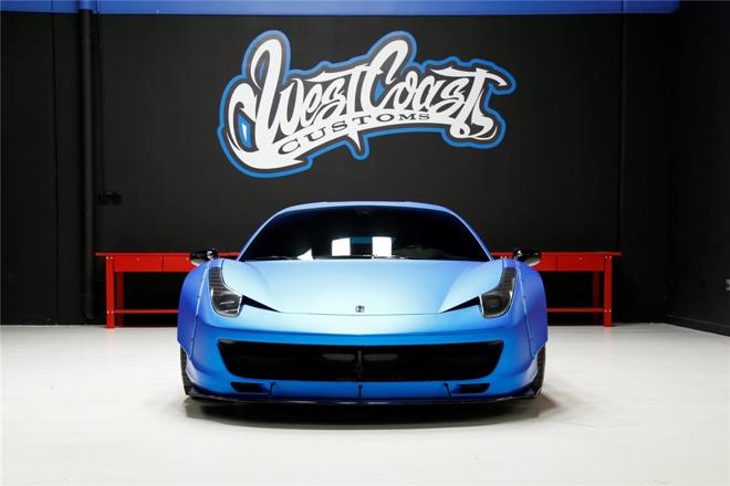 6f5cd2a0e1 Ferrari 458 personalizada para o cantor Justin Bieber está disponível para  lances.   Foto: